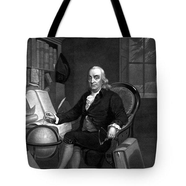 Benjamin Franklin -- The Scientist Tote Bag