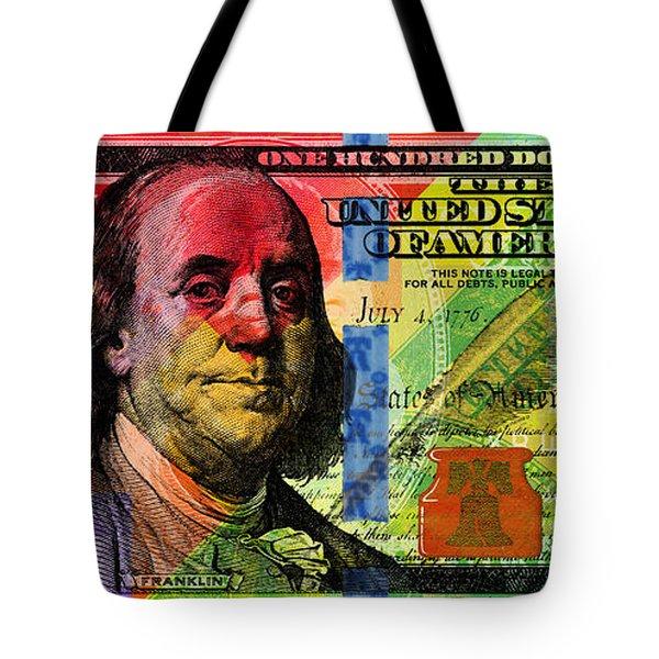 Benjamin Franklin $100 Bill - Full Size Tote Bag