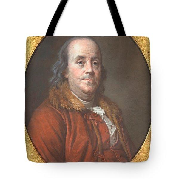 Benjamin Franklin Tote Bag by Jean Valade