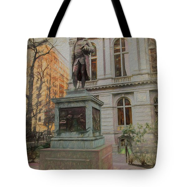 Benjamin Franklin Sketch Tote Bag