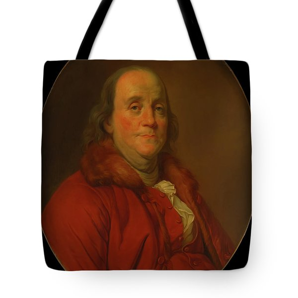 Tote Bag featuring the painting Benjamin Franklin by Workshop Of Joseph Duplessis
