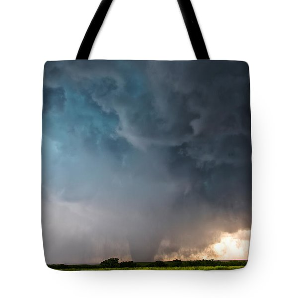 Bennington Kansas Tornado Structure Tote Bag by James Menzies