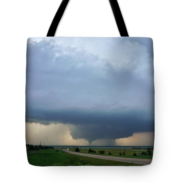 Tote Bag featuring the photograph Bennington Tornado - Inception by Ed Sweeney