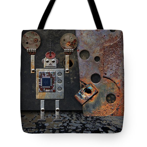 Benny Shows His Strength Tote Bag by Joan Ladendorf