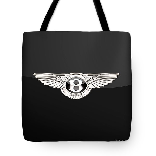 Bentley - 3 D Badge On Black Tote Bag