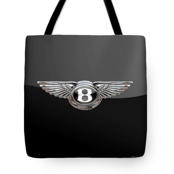 Bentley - 3d Badge On Black Tote Bag