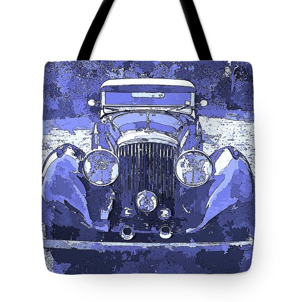 Bentley Blue Pop Art P2 Tote Bag