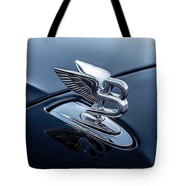 Tote Bag featuring the digital art Bentley Flying B by Douglas Pittman