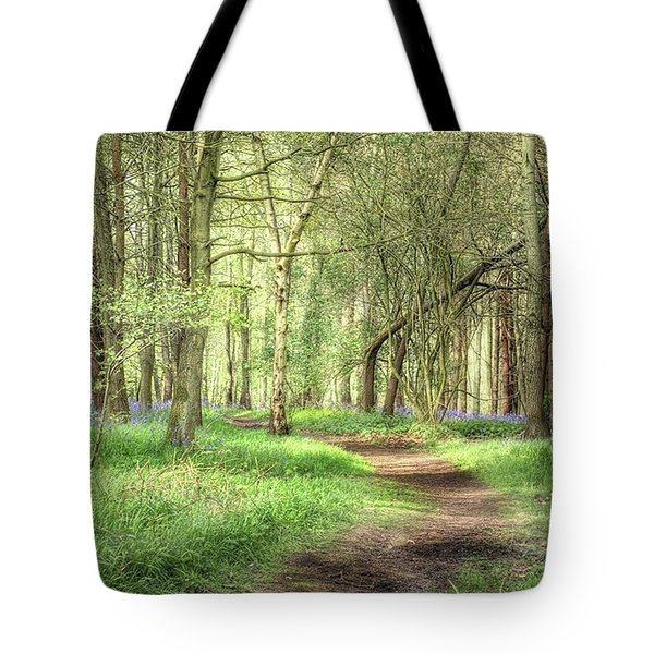 Bentley Woods, Warwickshire #landscape Tote Bag by John Edwards