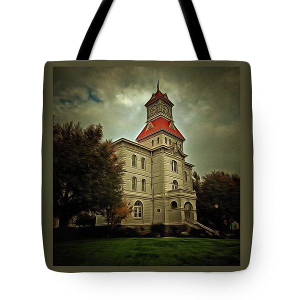 Benton County Courthouse Tote Bag by Thom Zehrfeld