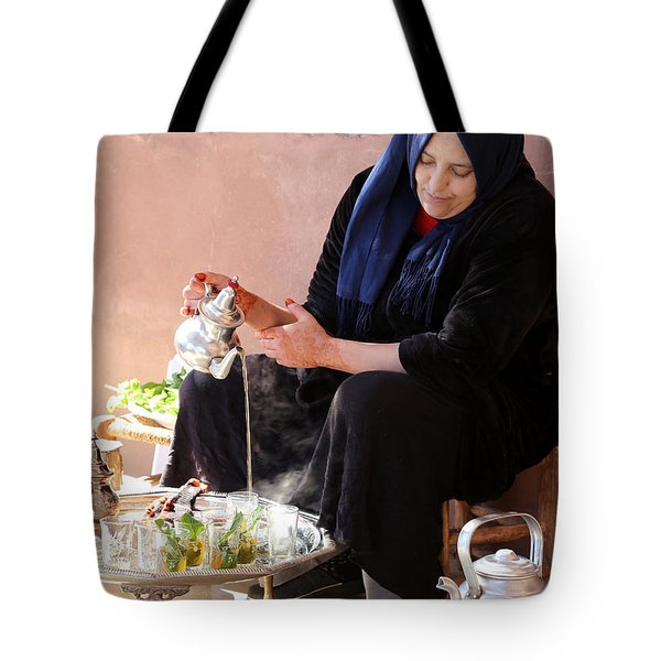 Tote Bag featuring the photograph Berber Woman by Andrew Fare