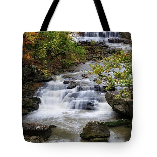 Tote Bag featuring the photograph Berea Falls by Dale Kincaid