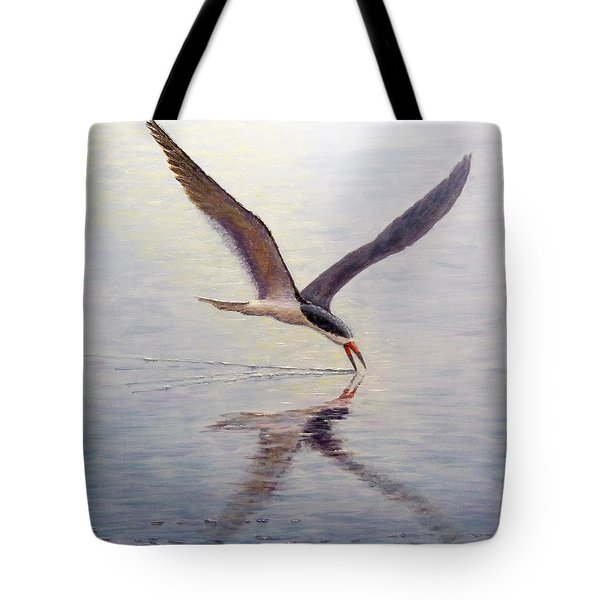 Tote Bag featuring the painting Black Skimmer by Joe Bergholm