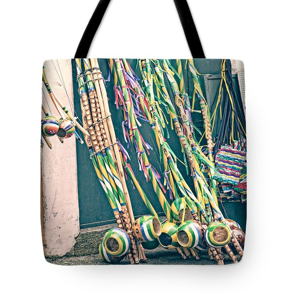 Tote Bag featuring the photograph Berimbau's by Kim Wilson