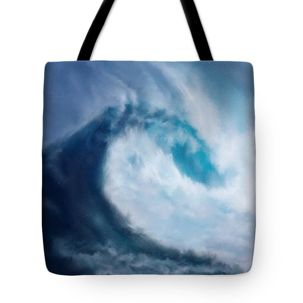 Tote Bag featuring the digital art Bering Sea by Mark Taylor