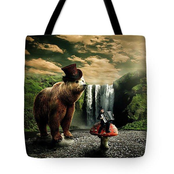 Berlin Bear Tote Bag by Nathan Wright