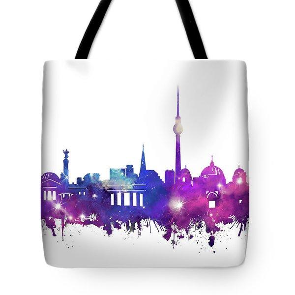 Berlin City Skyline Galaxy Tote Bag by Bekim Art