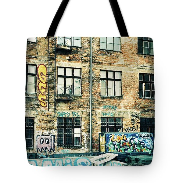 Berlin House Wall With Graffiti  Tote Bag