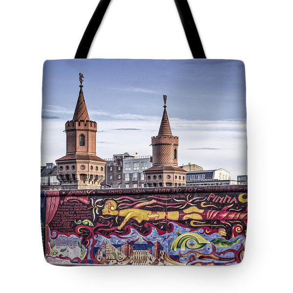 Tote Bag featuring the photograph Berlin Wall by Juergen Held