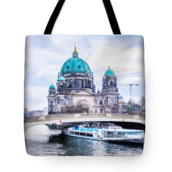 Tote Bag featuring the painting Berliner Dom by Chris Armytage