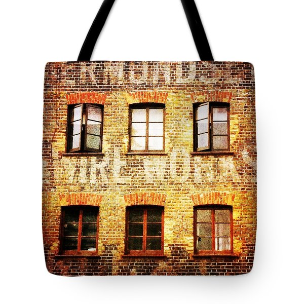 Tote Bag featuring the photograph Bermondsey Mesh And Wire Works by Anne Kotan