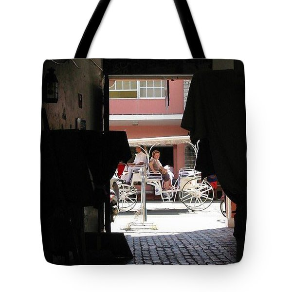 Tote Bag featuring the photograph Bermuda Carriage by Ian  MacDonald