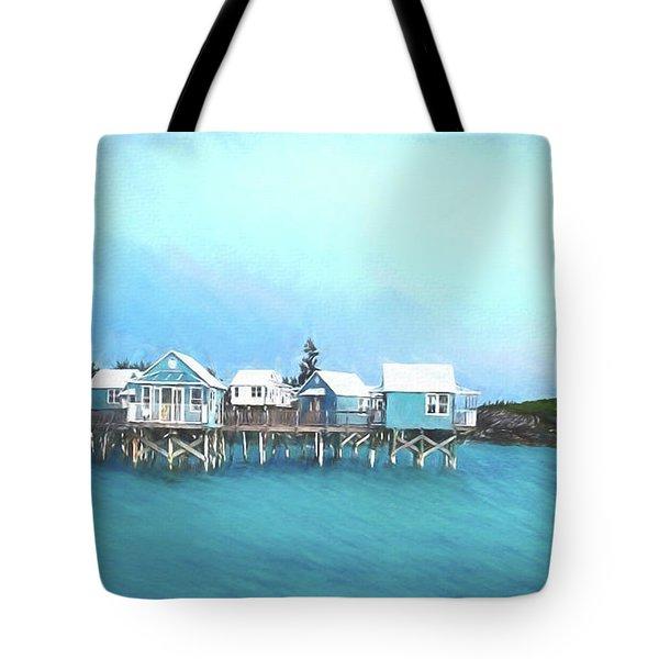 Bermuda Coastal Cabins Tote Bag