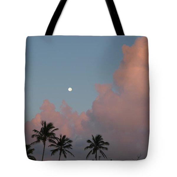 Bermuda Morning Moon Tote Bag by Richard Reeve