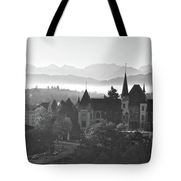 Bern In The Fog Tote Bag
