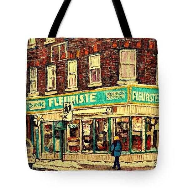 Bernard Florist Tote Bag by Carole Spandau