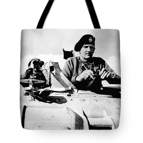 Bernard Law Montgomery Tote Bag by War Is Hell Store