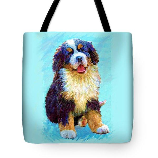 Bernese Mountain Dog Tote Bag by Jane Schnetlage