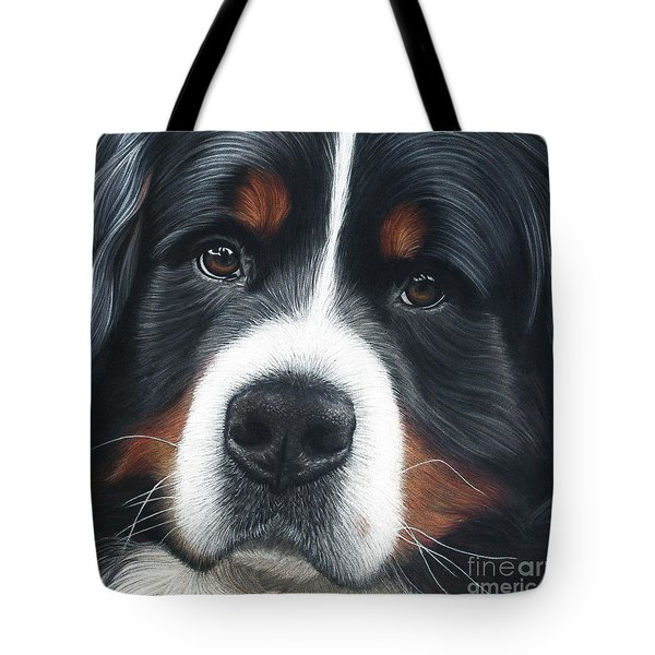 Tote Bag featuring the painting Up Close by Donna Mulley
