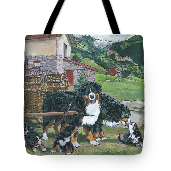 Bernese Mountain Dog Tote Bag by Nadi Spencer