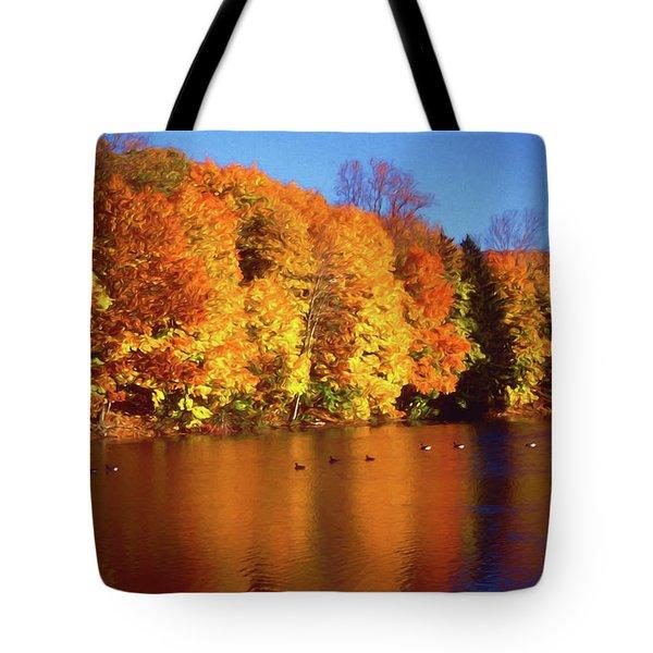 Bernharts Dam Fall 008 Tote Bag by Scott McAllister