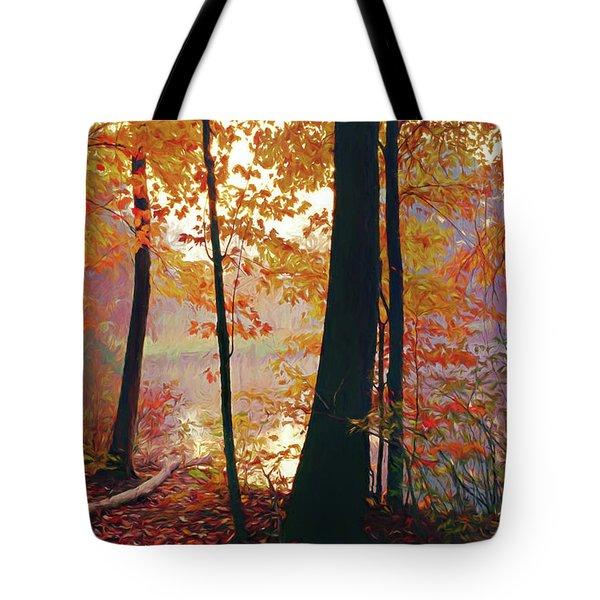 Bernharts Dam Fall 031 Tote Bag by Scott McAllister