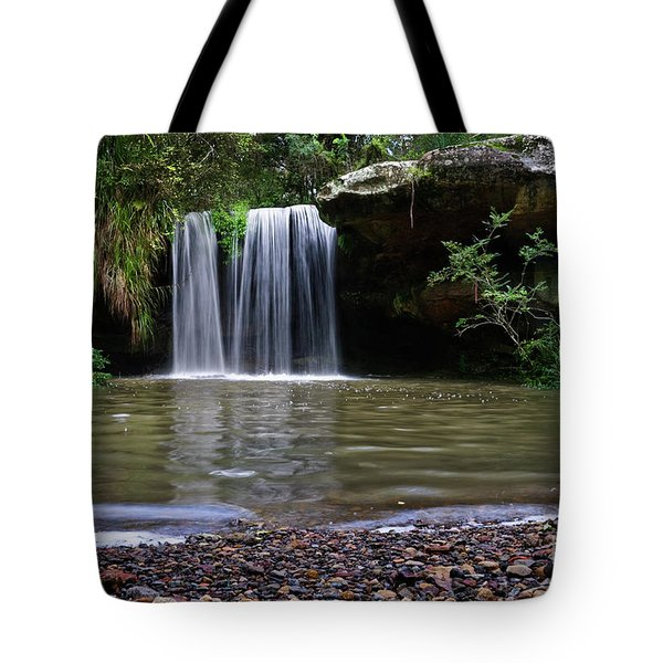 Tote Bag featuring the photograph Berowra Waterfall by Werner Padarin