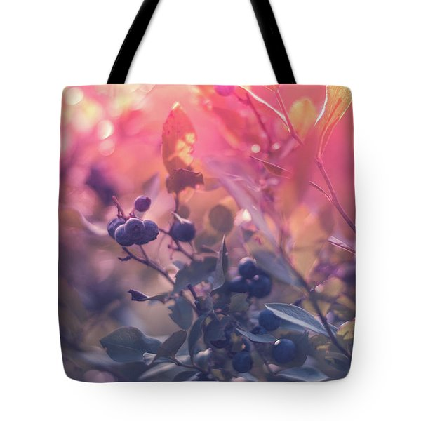 Berries In The Sun Tote Bag by Stefanie Silva