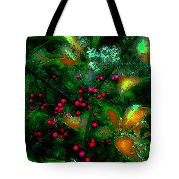 Berries Tote Bag by Iowan Stone-Flowers