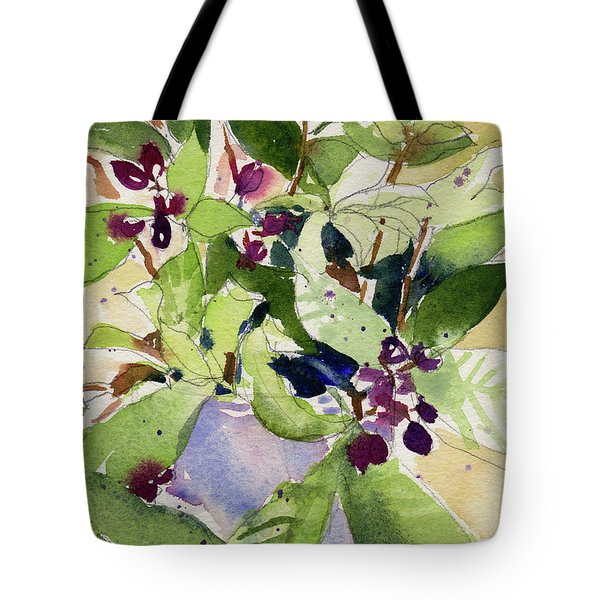 Tote Bag featuring the painting Berry Bouquet by Kris Parins