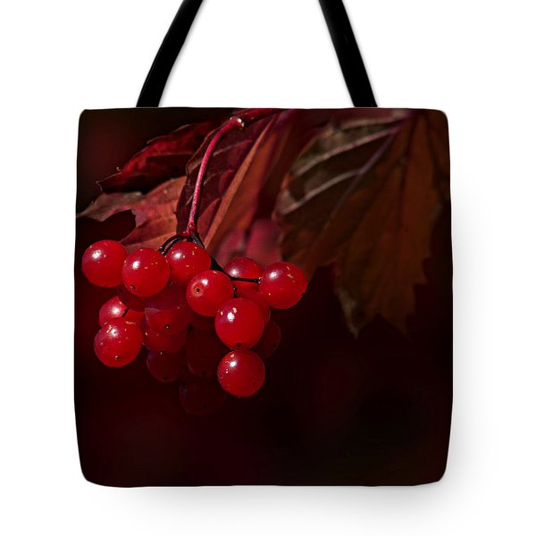 Tote Bag featuring the photograph Berry Red by Judy  Johnson