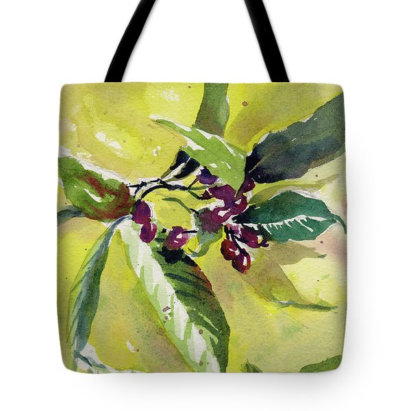 Tote Bag featuring the painting Berry Study by Kris Parins