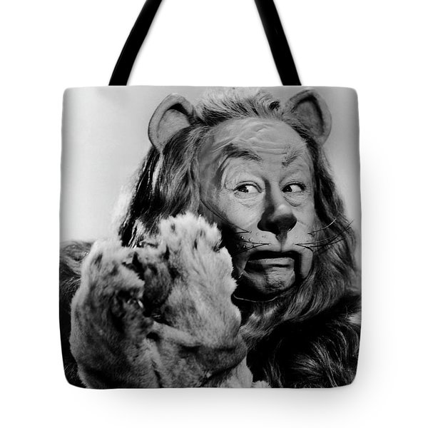 Cowardly Lion In The Wizard Of Oz Tote Bag