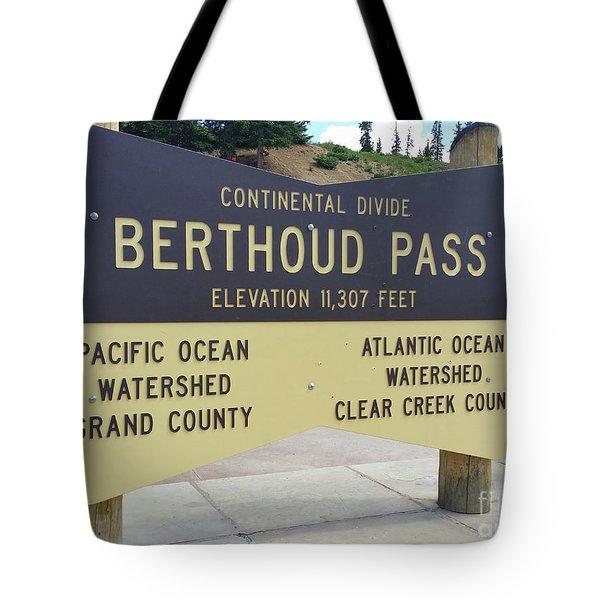 Berthoud Pass Tote Bag