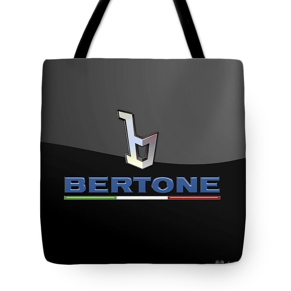 Bertone - 3 D Badge On Black Tote Bag