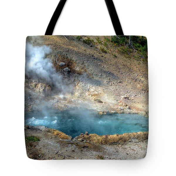 Beryl Hot Springs, Ynp Tote Bag by Greg Sigrist