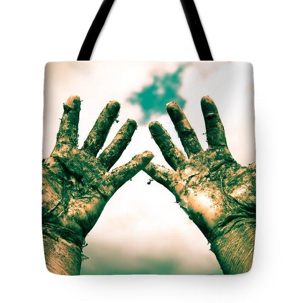 Beseeching Hands Tote Bag