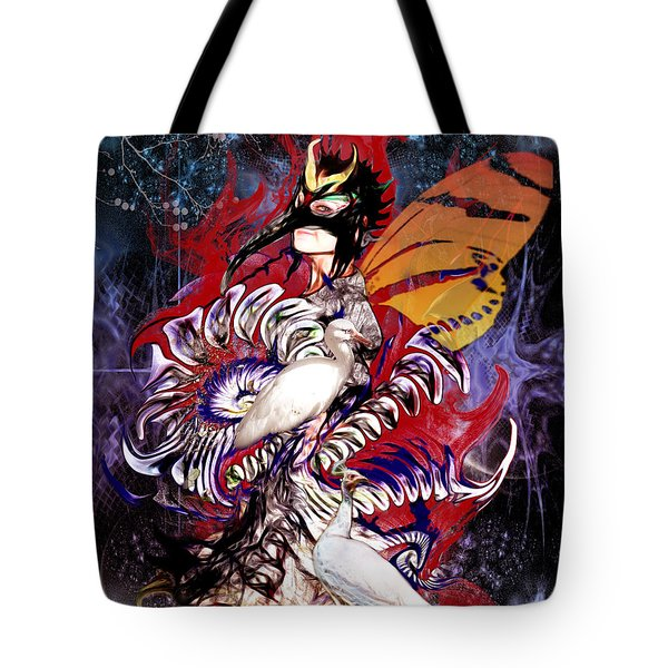 Tote Bag featuring the digital art Beside Myself  One Summer Dream Part II by Rhonda Strickland