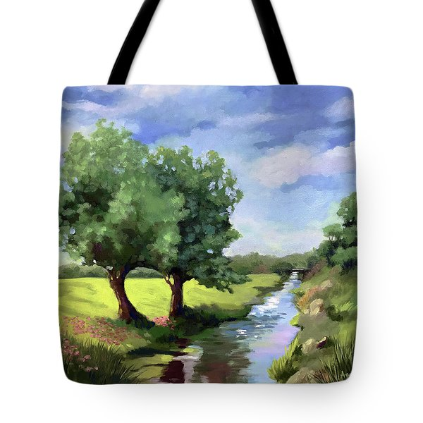 Beside The Creek - Original Rural Landscape  Tote Bag