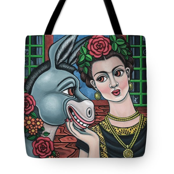 Beso Or Fridas Kisses Tote Bag